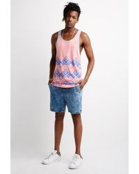 Forever 21 | Pink Abstract Geo Print Tank Top for Men | Lyst