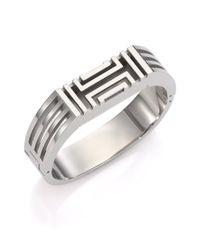 Tory Burch   Metallic For Fitbit Bangle Bracelet/silvertone   Lyst