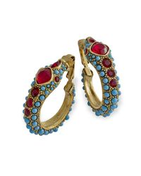 Kenneth Jay Lane | Multicolor Turquoise Snake Earring | Lyst