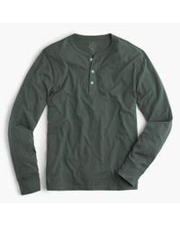 J.Crew | Gray Slim Broken-in Henley for Men | Lyst