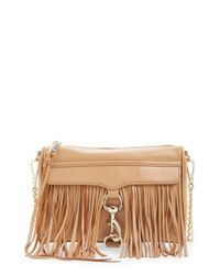 Rebecca Minkoff | Natural 'fringe Mini Mac' Convertible Crossbody Bag | Lyst