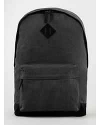 TOPMAN - Gray Charcoal Plain Backpack for Men - Lyst
