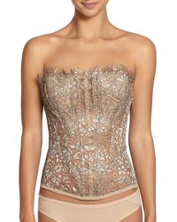 La Perla - Metallic Luminescence Lace Bustier - Lyst