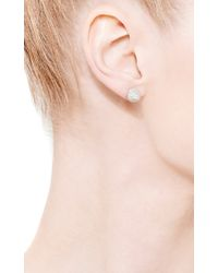 Eddie Borgo - Gray Pavã Crystal Cone Stud Earrings - Lyst