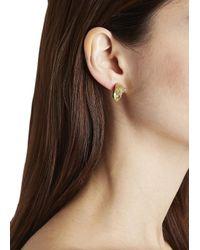 Iosselliani | Metallic Gold Plated Swarovski Panther Earrings | Lyst