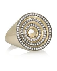 Noor Fares | Metallic Eternity Step 18-Karat Gray Gold Diamond Ring | Lyst