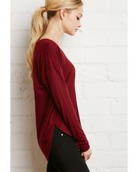 Forever 21 | Red Striped Dolphin Hem Top | Lyst
