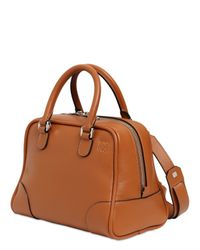 Loewe | Brown Small Amazona 75 Grained Leather Bag | Lyst