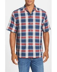 Tommy Bahama | Blue 'limbo Lagoon' Original Fit Short Sleeve Silk Camp Shirt for Men | Lyst
