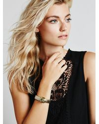 Free People - Metallic Flight Of Fancy Womens Time Keeper Quartz Bracelet - Lyst