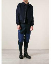 Alexander McQueen - Blue Bomber Jacket for Men - Lyst