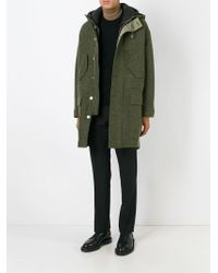 Neil Barrett - Green Classic Duffle Coat for Men - Lyst