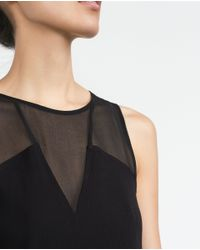 Zara | Black Sheer Top | Lyst