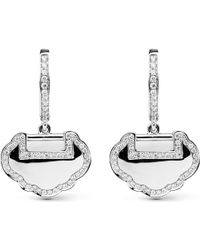 Qeelin | Metallic Yu Yi 18ct White Gold Diamond Earrings | Lyst