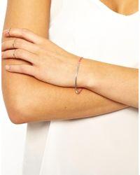 Orelia - Pink Box Chain Friendship Bracelet - Lyst