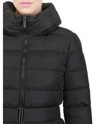 Add - Black Waterproof Hooded Long Down Jacket for Men - Lyst