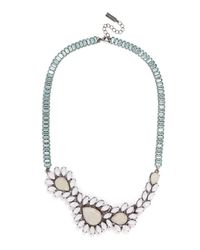BaubleBar - Metallic Asymmetrical Ivy Collar - Lyst