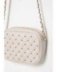 Forever 21 | Brown Quilted Faux Leather Crossbody | Lyst