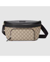 c7fc3056911 Lyst - Gucci Gg Supreme Belt Bag in Natural for Men
