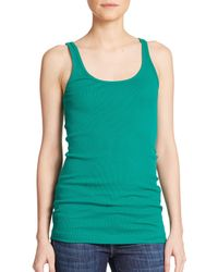 VINCE | Green Favorite Tank Top | Lyst
