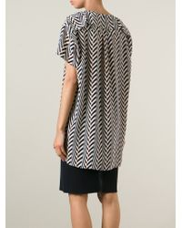 Lanvin | Black Printed Blouse | Lyst