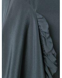3.1 Phillip Lim - Gray Draped Ruffled Dress - Lyst