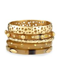 Ashley Pittman | Metallic Nadra Mixed Bangle Set | Lyst