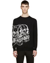 Alexander McQueen | Black Knit Best Skulls Sweater for Men | Lyst