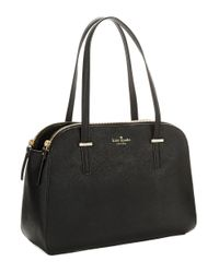kate spade new york | Black Elissa Leather Dome Bag | Lyst
