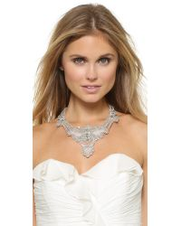 Jenny Packham | Metallic Tzarina Necklace - Crystal | Lyst