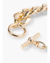 Mango - Metallic Link Bracelet - Lyst