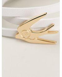 McQ - White Swallow Bracelet - Lyst