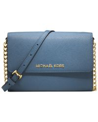 Michael Kors | Blue Michael Jet Set Crossbody | Lyst