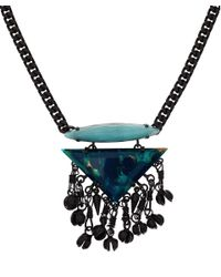 DANNIJO | Blue Crystal Jace Necklace | Lyst