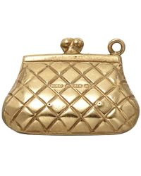 Annina Vogel - Metallic Vintage Gold Purse Charm - Lyst