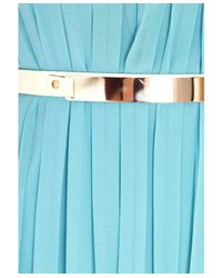 Missguided | Abelone Bandeau Pleated Maxi Dress In Ocean Blue | Lyst
