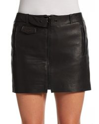 A.L.C. - Black Andras Belted Leather Mini Skirt - Lyst