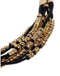 ASOS - Metallic Curve Bead Friendship Bracelet - Lyst