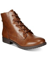 Style & Co. | Brown Qwinn Casual Lace Up Booties, Only At Macy's | Lyst