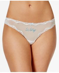 Betsey Johnson | White Bridal Thong 722713 | Lyst