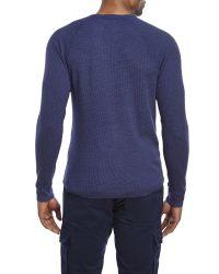 Lucky Brand - Blue Thermal Henley for Men - Lyst