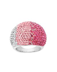 Lord & Taylor | Pink Sterling Silver Faded Rose Colored Crystal Ring | Lyst