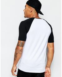 ASOS - Black Muscle T-shirt With Raglan Sleeves And Triangle Chest Print for Men - Lyst