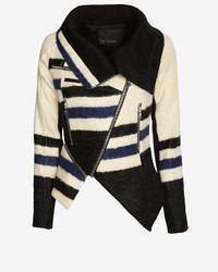 Yigal Azrouël - Natural Elongated Striped Jacket - Lyst
