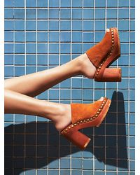 Free People | Brown Jeffrey Campbell X Womens Sonny Wood Mule | Lyst