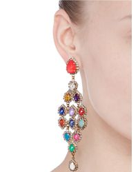 Erickson Beamon - Multicolor 'telepathic' Crystal Chandelier Drop Earrings - Lyst