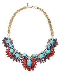 Deepa Gurnani | Purple Woven Statement Necklace- 11 In for Men | Lyst