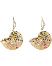 Aurelie Bidermann | Metallic Nautilus Earrings | Lyst