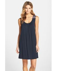 Midnight By Carole Hochman - Blue Sleeveless Scoopneck Chemise - Lyst