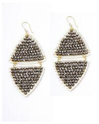 Nakamol - Gray Mirror Image Earrings-silver Crystal - Lyst